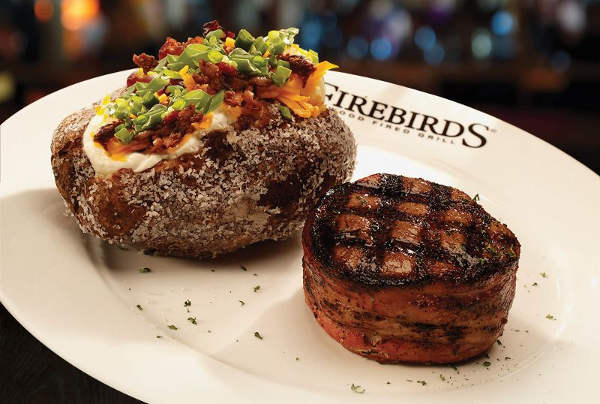 Firebirds Bacon Wrapped Filet