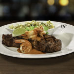 NY Strip with Chile-Lime Shrimp
